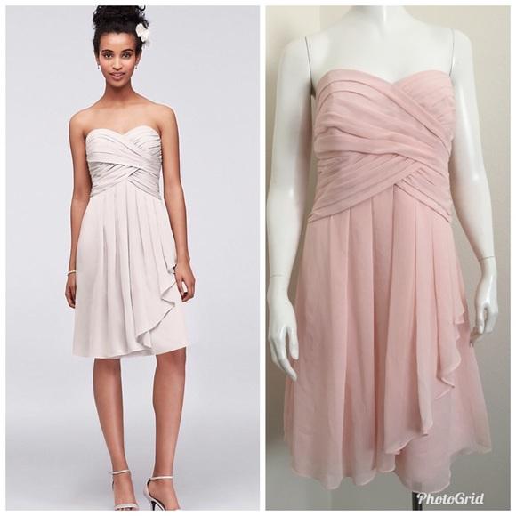2fb831880621d David's Bridal Dresses & Skirts - 🎉David's Brisdal Strapless Chiffon Dress